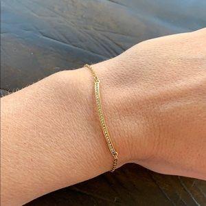 Chloe + Isabel Pavé Curved Bar Bracelet